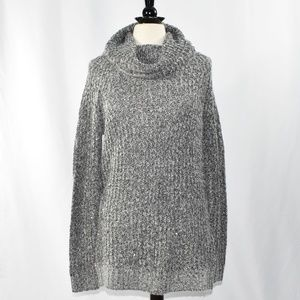 Mossimo Cowl Neck Sweater Gray Marled Knit NWT